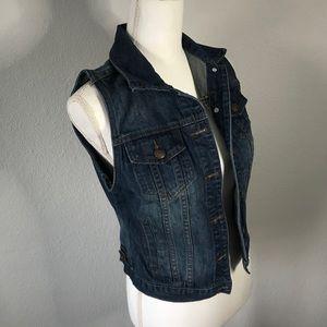 Adam Levine Sleeveless Jean Jacket Vest